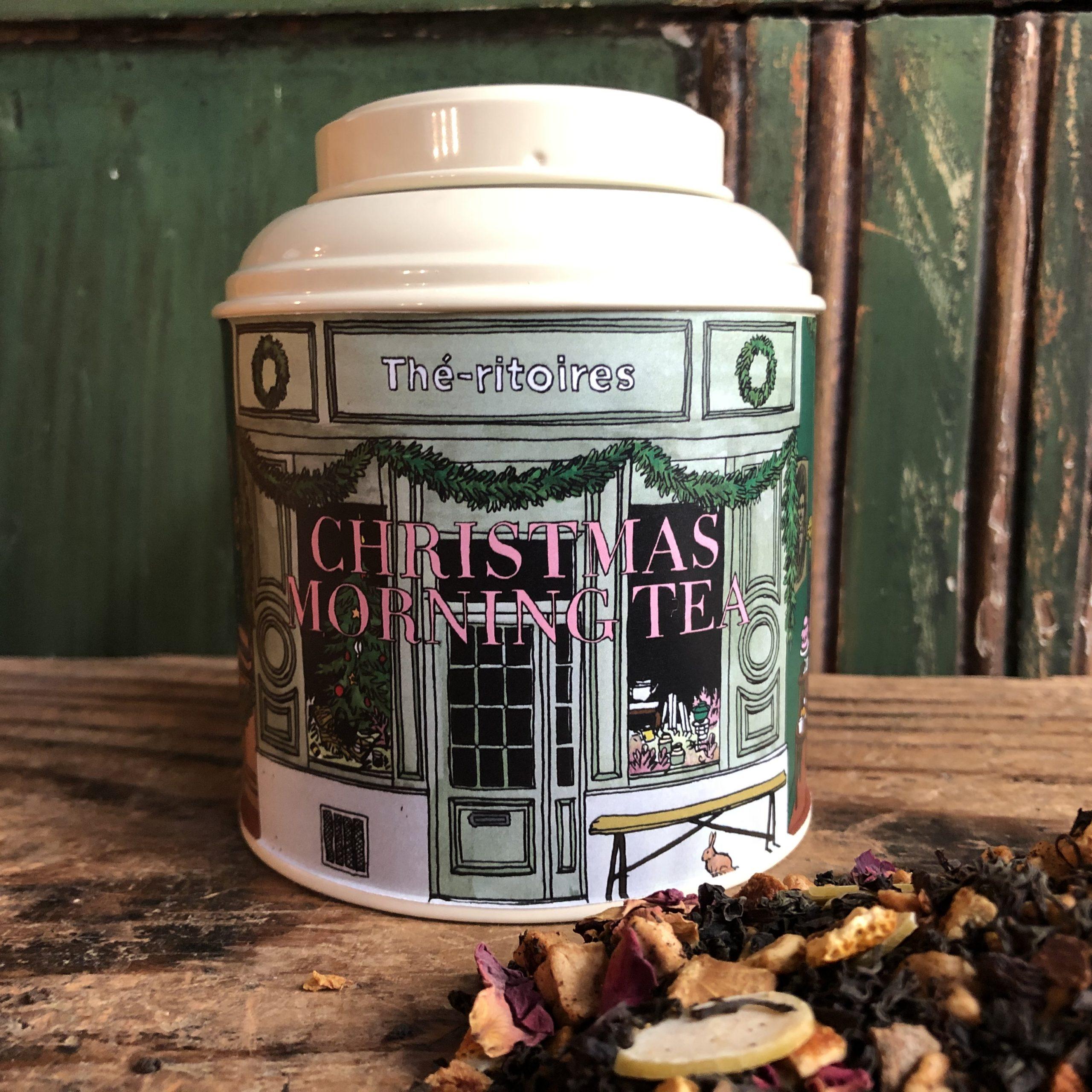 Boîte de thé de Noël